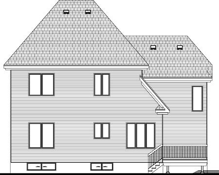 House Plan 52317 Rear Elevation