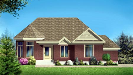 House Plan 52318 with 2 Beds, 2 Baths, 2 Car Garage Elevation