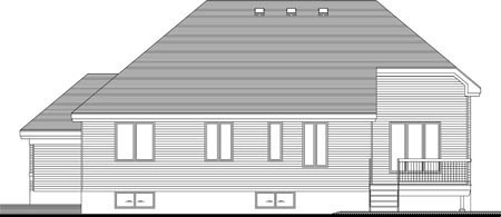 House Plan 52318 with 2 Beds, 2 Baths, 2 Car Garage Rear Elevation