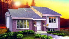 House Plan 52320 with 3 Beds, 1 Baths Elevation
