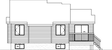 House Plan 52320 Rear Elevation