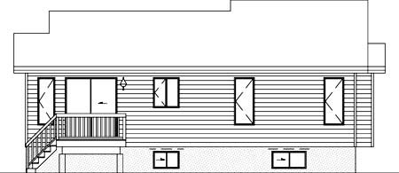 House Plan 52321 Rear Elevation