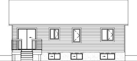 House Plan 52324 Rear Elevation
