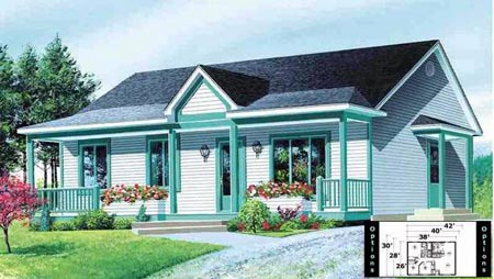 House Plan 52325 Elevation
