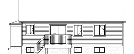 House Plan 52325 Rear Elevation