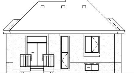 House Plan 52330 Rear Elevation