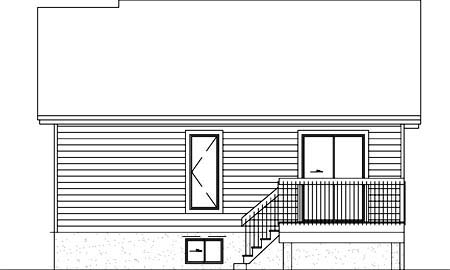 House Plan 52331 Rear Elevation