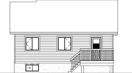 House Plan 52332 Rear Elevation