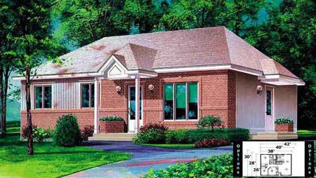 House Plan 52334 Elevation