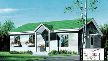 House Plan 52343 Elevation