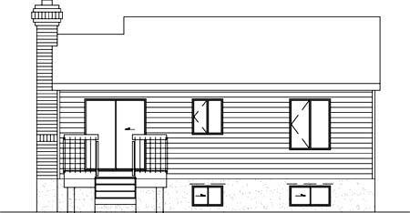 House Plan 52346 Rear Elevation