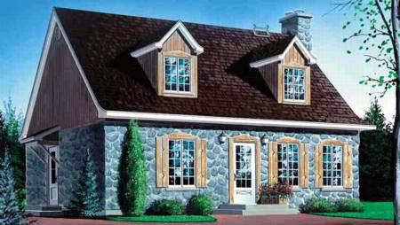 House Plan 52349 Elevation