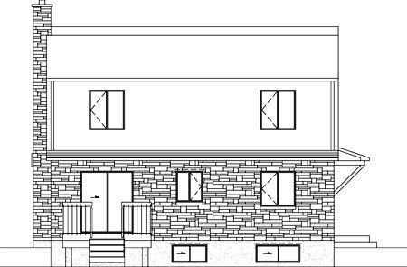 House Plan 52349 Rear Elevation