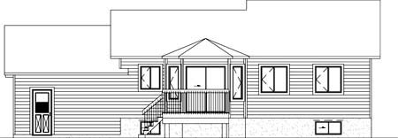 House Plan 52351 Rear Elevation
