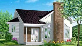 House Plan 52357 | Style Plan with 925 Sq Ft, 1 Bedrooms, 1 Bathrooms Elevation