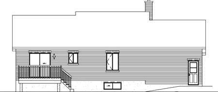 House Plan 52358 Rear Elevation
