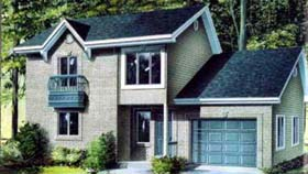 House Plan 52365 | Style Plan with 1251 Sq Ft, 2 Bedrooms, 2 Bathrooms, 1 Car Garage Elevation