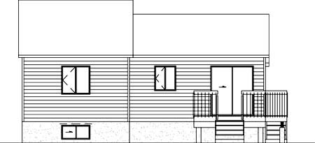 House Plan 52366 Rear Elevation