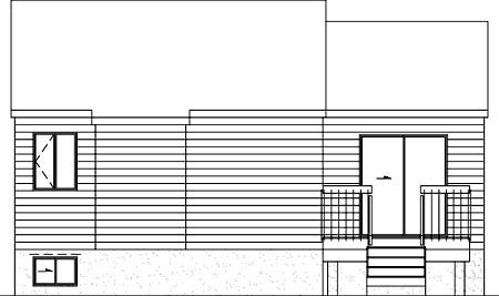 House Plan 52367 Rear Elevation