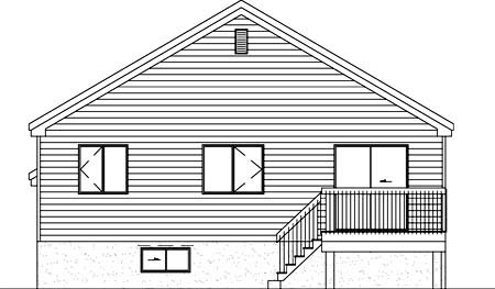 House Plan 52371 Rear Elevation