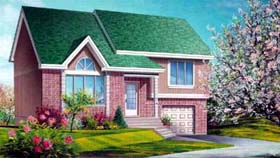 House Plan 52374 with 3 Beds, 2 Baths, 1 Car Garage Elevation