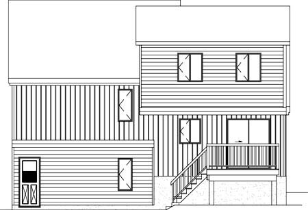 House Plan 52374 Rear Elevation