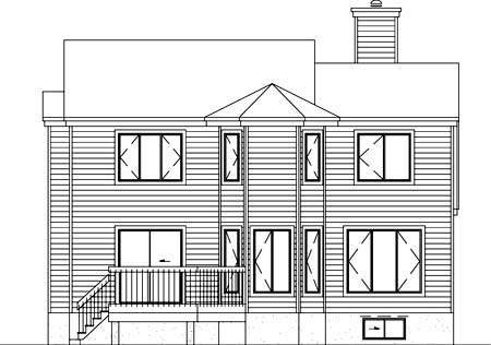 House Plan 52375 Rear Elevation
