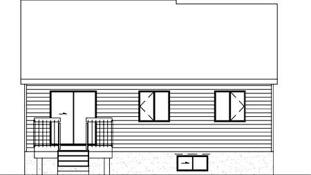 House Plan 52376 Rear Elevation