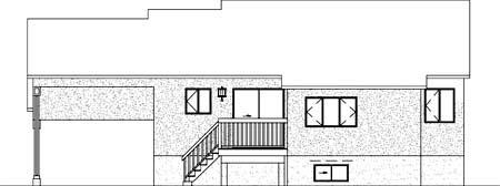 House Plan 52377 Rear Elevation