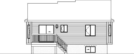 House Plan 52379 Rear Elevation