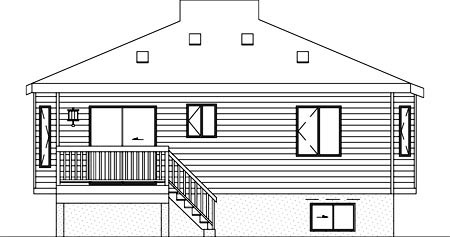 House Plan 52380 Rear Elevation