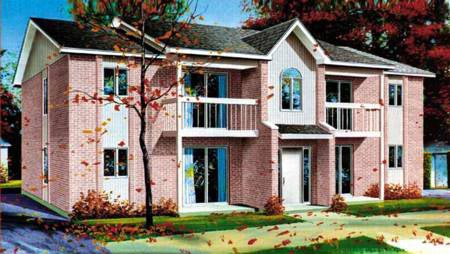 Multi-Family Plan 52381 Elevation
