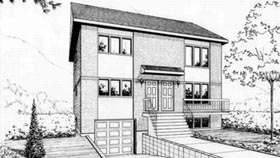 Multi-Family Plan 52382 Elevation