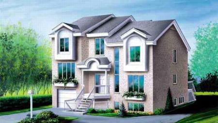 Multi-Family Plan 52383 Elevation