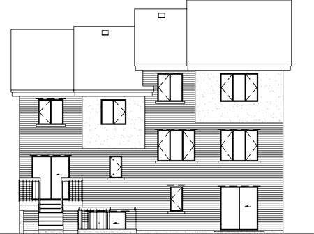 Multi-Family Plan 52383 Rear Elevation