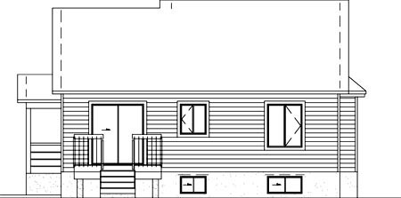 House Plan 52384 Rear Elevation