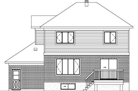 House Plan 52386 Rear Elevation