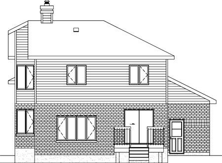 House Plan 52387 Rear Elevation