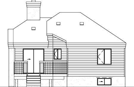 House Plan 52388 Rear Elevation