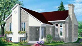 House Plan 52389 with 2 Beds, 1 Baths Elevation