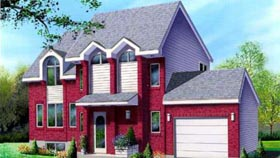 House Plan 52390 | Style Plan with 1896 Sq Ft, 3 Bedrooms, 2 Bathrooms, 1 Car Garage Elevation