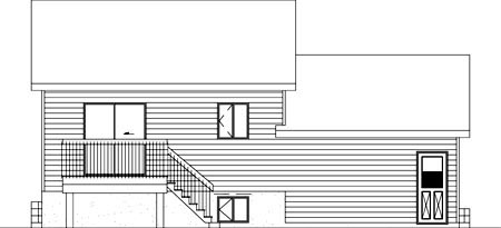 House Plan 52391 Rear Elevation