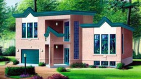 House Plan 52392 | Style Plan with 2366 Sq Ft, 3 Bedrooms, 3 Bathrooms, 1 Car Garage Elevation
