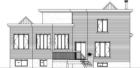 House Plan 52392 Rear Elevation