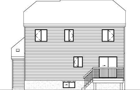 Modern House Plan 52395 Rear Elevation