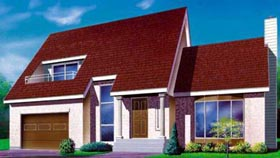 House Plan 52396 | Style Plan with 1699 Sq Ft, 3 Bedrooms, 2 Bathrooms, 1 Car Garage Elevation