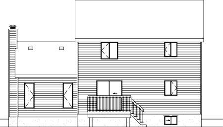 House Plan 52396 Rear Elevation
