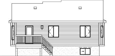 House Plan 52397 Rear Elevation