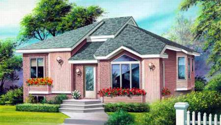 House Plan 52398 Elevation