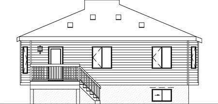 House Plan 52398 Rear Elevation